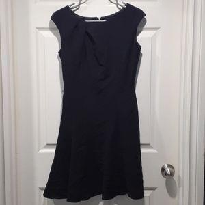 Le chateau black flare dress
